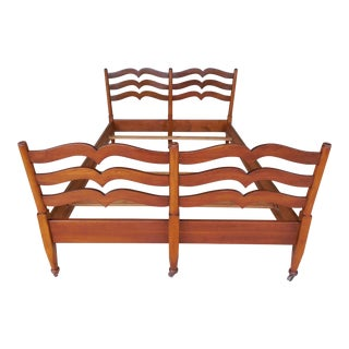 Stickley Cherry Ladder Back Cottage Style Full Size Bed