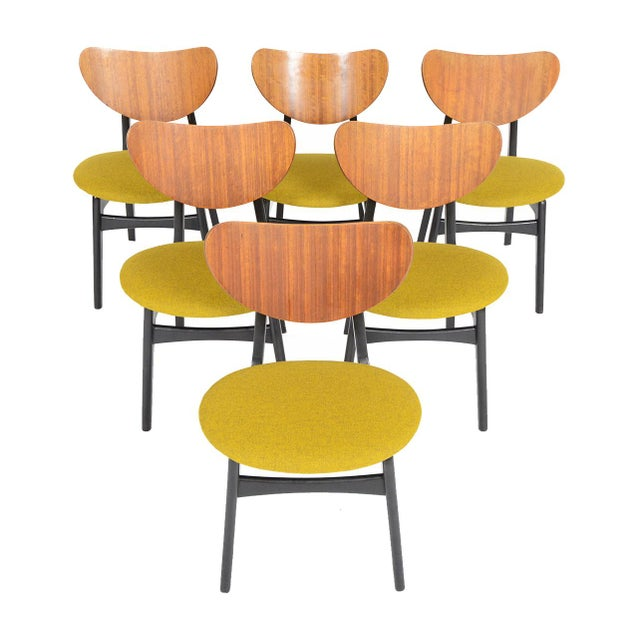 G Plan Librenza Chartreuse Dining Chairs - Set of 6 - Image 1 of 10