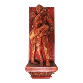 Erotic Kama Sutra Wood Wall Carving For Sale