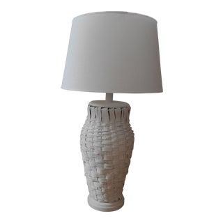 Woven Lamp & Linen Shade