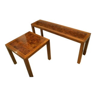 Drexel Etcetera Series Sofa Table & End Table - A Pair For Sale