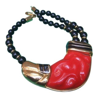 Alexis Kirk Beaded Resin Choker Necklace For Sale