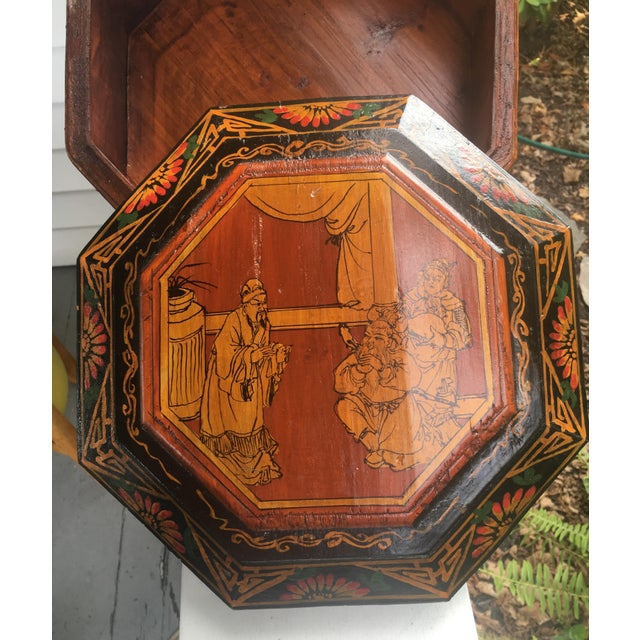 Wood Chinese Wedding Basket For Sale - Image 7 of 12