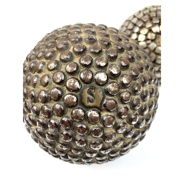 Antique French Pétanque Balls - a Pair For Sale In New York - Image 6 of 8