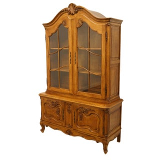 """1920's Vintage Antique Louis XVI French Regency 51"""" Buffet W. China Cabinet Hutch Preview"""