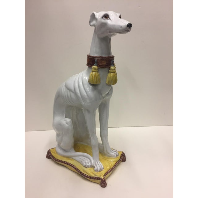 Glazed Terracotta Greyhound Sculpture For Sale - Image 13 of 13