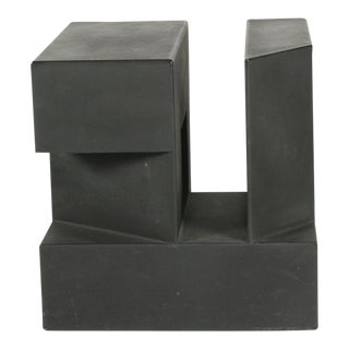 """Black Cube"" Aluminum Sculpture by Alfredo Halegua For Sale"