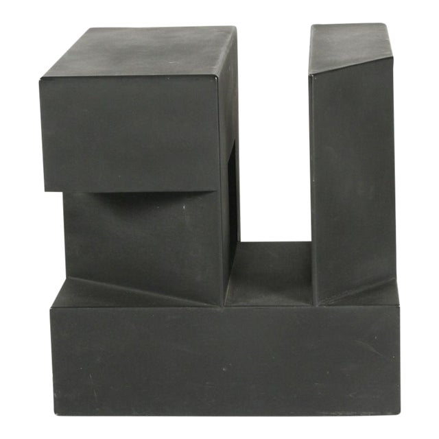 """Black Cube"" Aluminum Sculpture by Alfredo Halegua - Image 1 of 10"