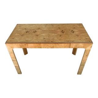 Henredon Scene Two Burled Olive Desk For Sale