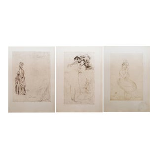 1959 Renoir, Large Vintage Hungarian Prints - Set of 3 For Sale