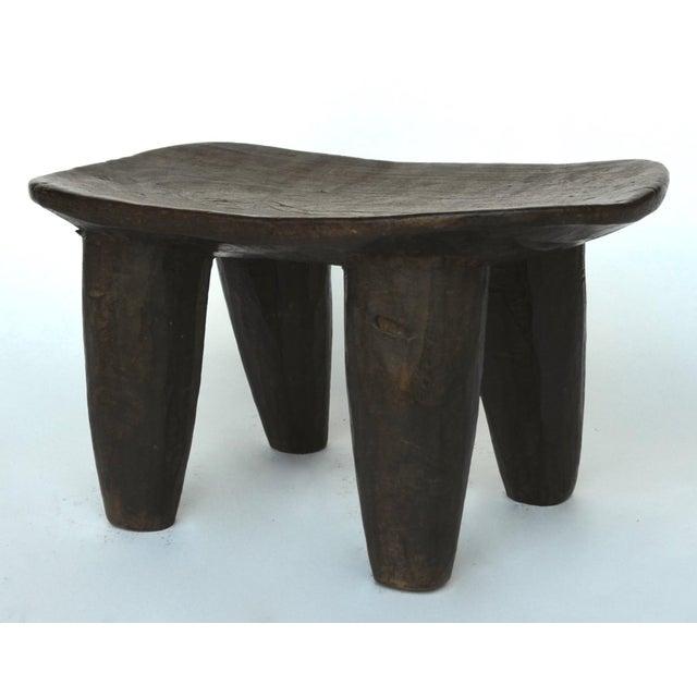 African Senufo tribal stool, carved from one piece of wood with a lovely rich deep natural patina from use and age. Great...
