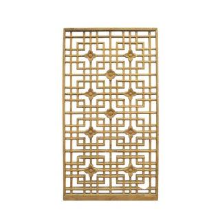 Chinese Handmade Vintage Rustic Flower Star Geometric Wood Panel For Sale