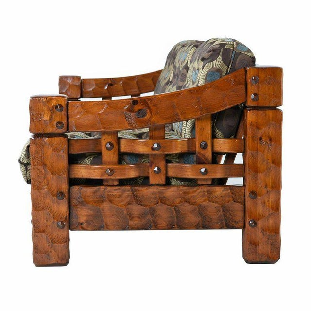 Pleasing Solid Pine Rustic Log Cabin Sofa By Null Gamerscity Chair Design For Home Gamerscityorg
