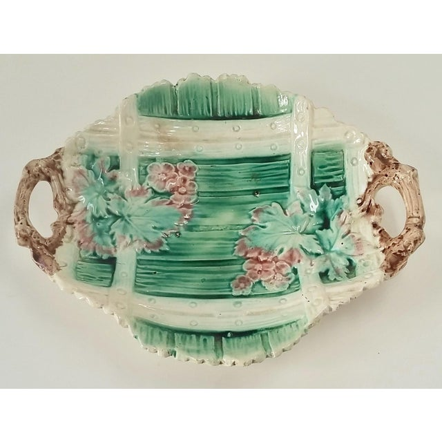 Antique Majolica Serving Dish - Image 2 of 5