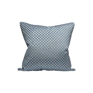 Scalamandre Pomfret Pillow, Lapis For Sale