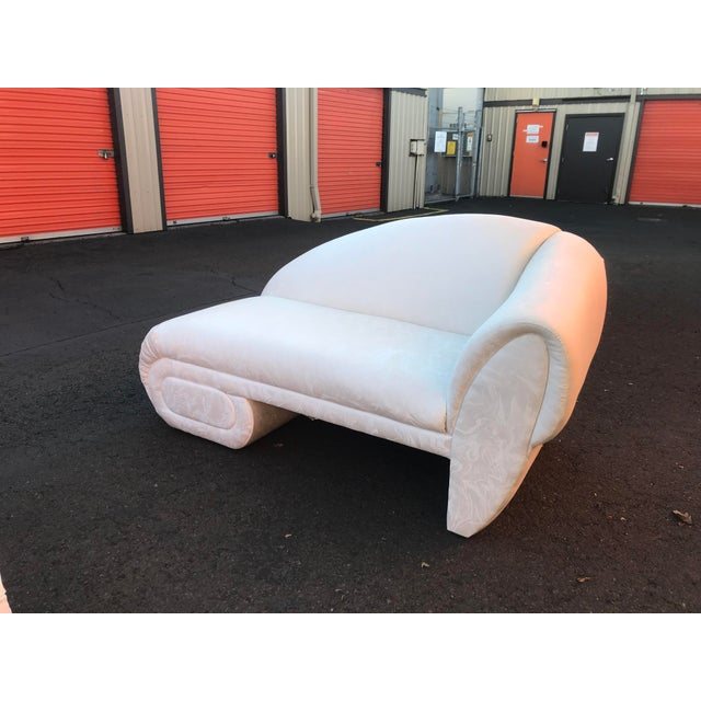 Marge Carson Sculptural Cloud Chaise Lounge Sofas by Marge Carson -A Pair For Sale - Image 4 of 12