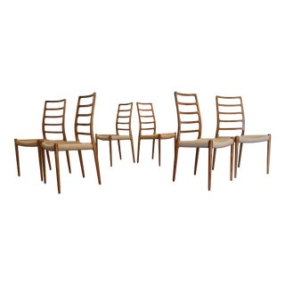 Jl Moller Model 82 Dining Chairs, Set of 6 For Sale