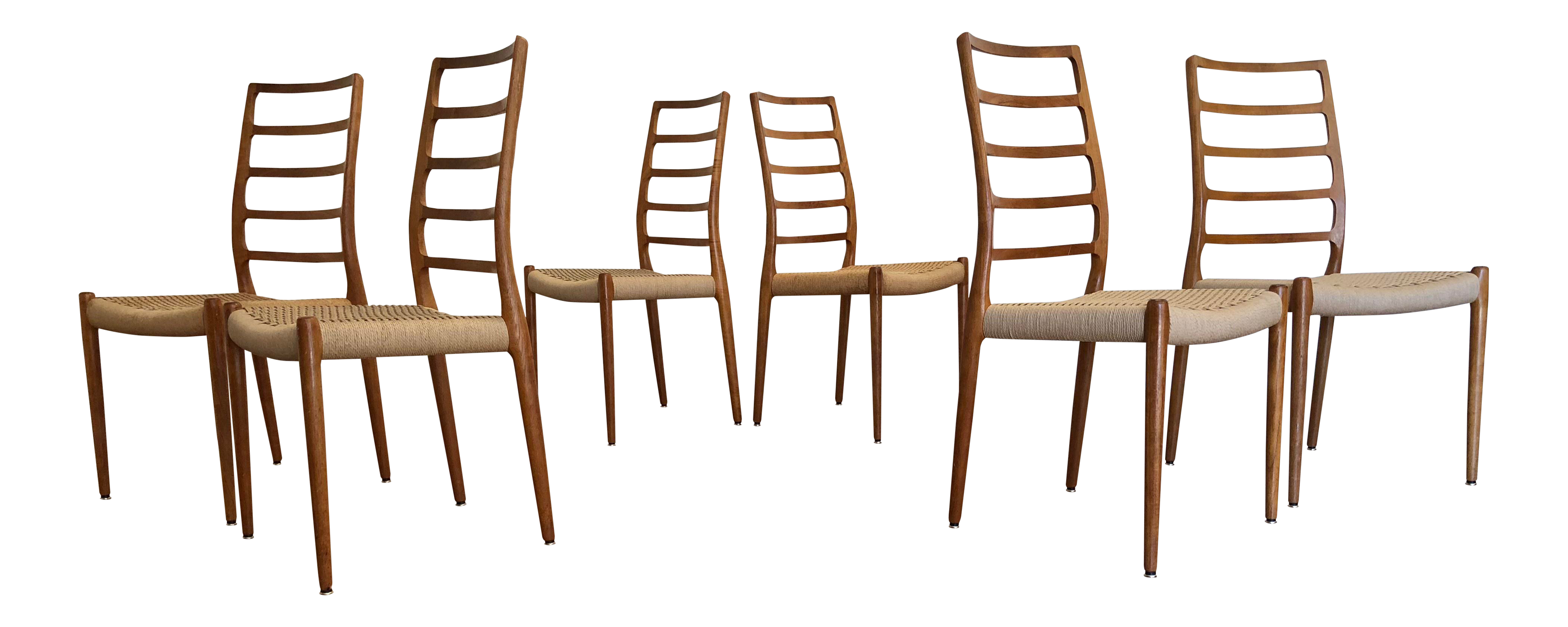 Jl Moller Model 82 Dining Chairs, Set Of 6