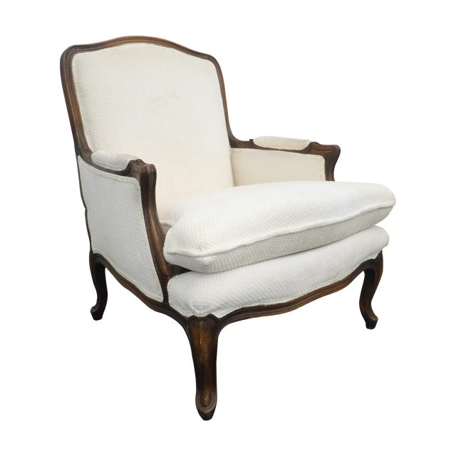 Vintage French Provincial White Arm Chair - Image 1 of 10