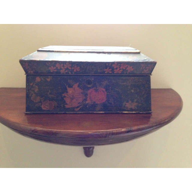 English Late 19th Century Painted English Victorian Tea Caddy For Sale - Image 3 of 8