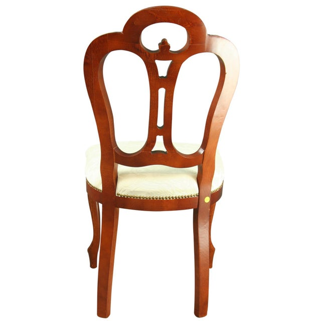 White Italian Rococo-Style Mahogany Chair For Sale - Image 8 of 8