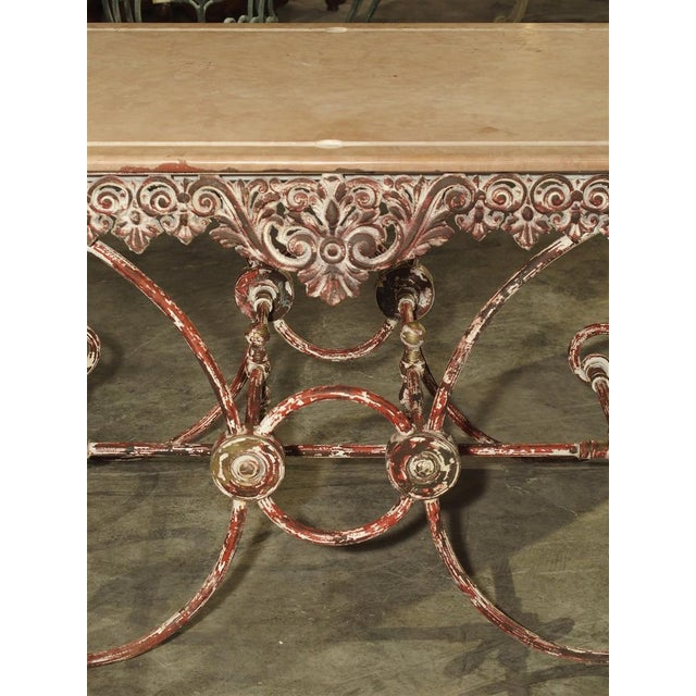 French Iron and Marble Pastry Table For Sale - Image 11 of 13