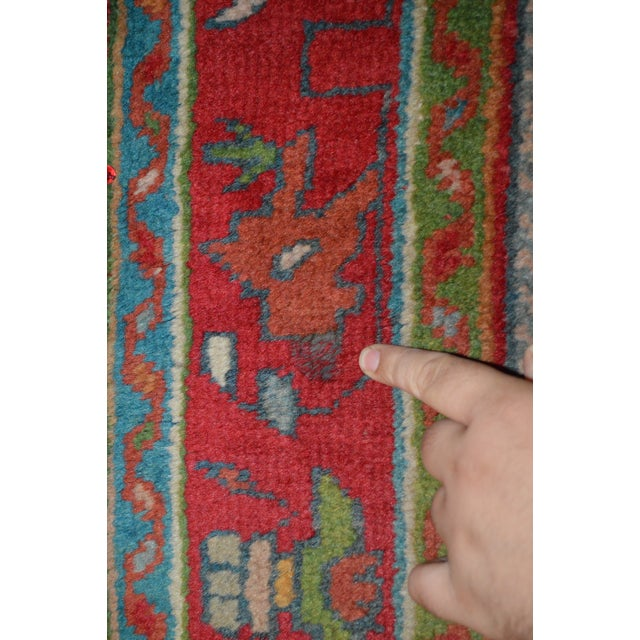 """Antique Turkish Oushak Rug - 3'7"""" x 5'6"""" - Image 6 of 7"""