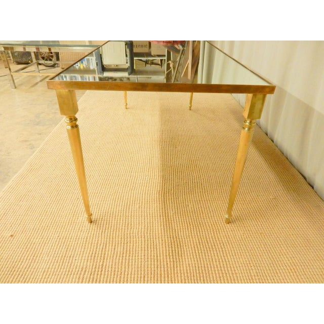 Classical Mirrored Top Mid-Century Modern Coffee Table For Sale - Image 4 of 6