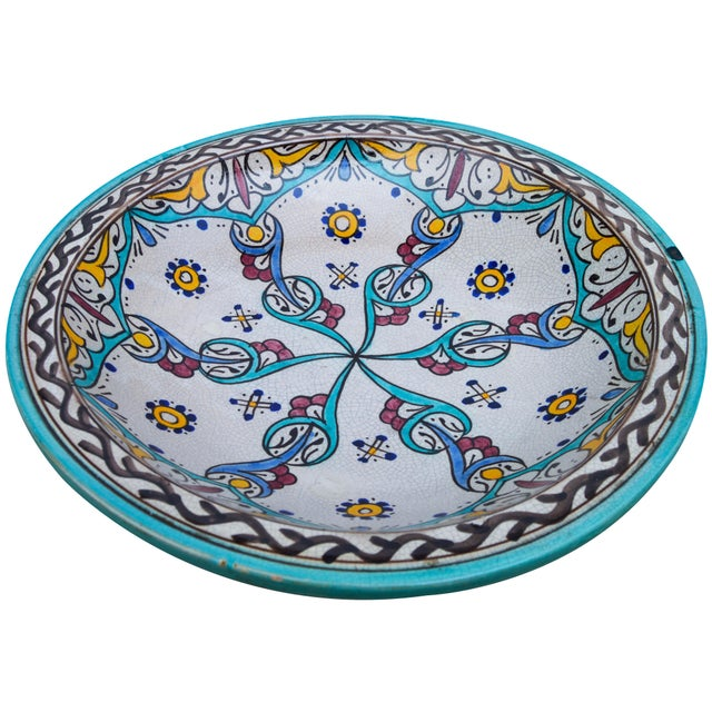 Antique Ceramic Bowl W/ Andalusian Motif For Sale - Image 4 of 9