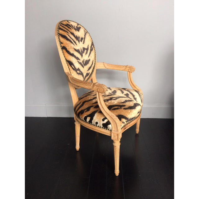 Tiger print chair.