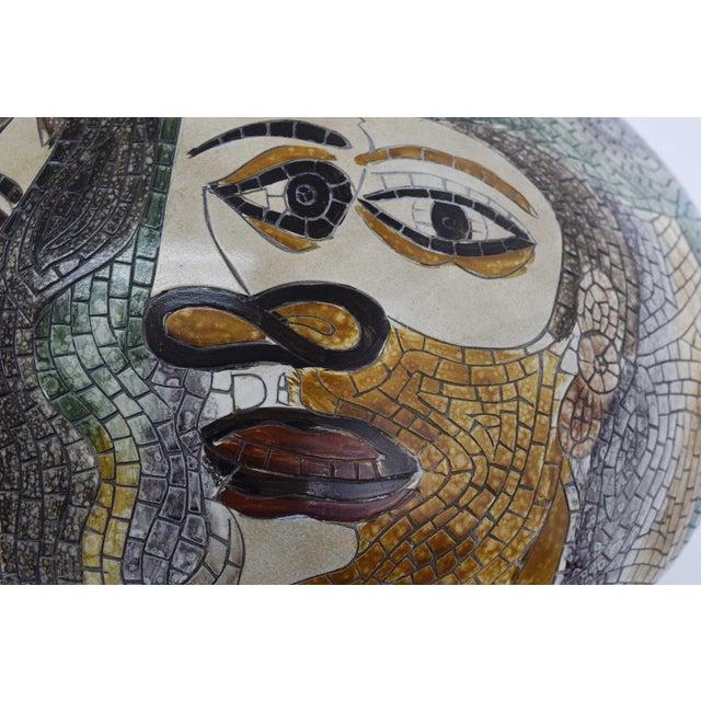 Large Pablo Picasso Mosaic Ceramic Vase For Sale - Image 9 of 11