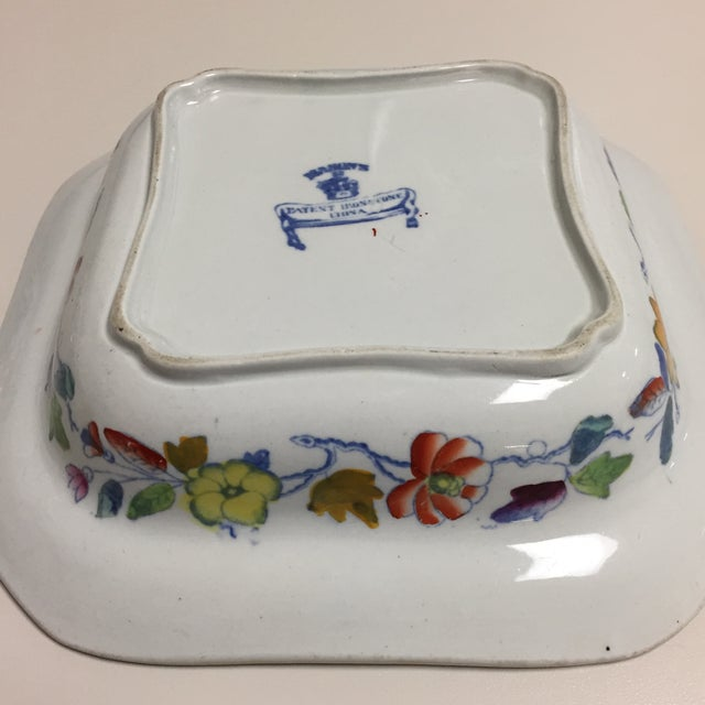Ceramic Blue and Red Floral Masons Square Covered Server For Sale - Image 7 of 9