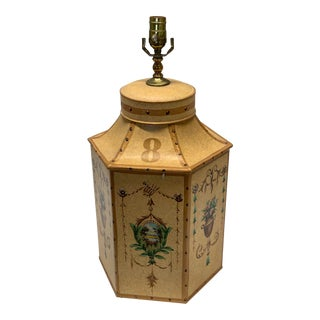 1960s Vintage Chinese English Tea Caddy Lamps For Sale