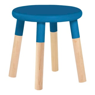 Peewee Kids Chair in Maple With Pacific Blue Finish For Sale
