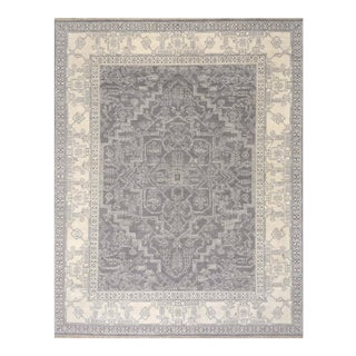 Kravet Transitional Hand Knotted Gray and Ivory 9' X 12' Esani Rug For Sale