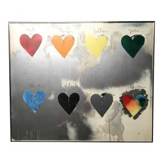 Early Jim Dine Serigraph - 8 Hearts