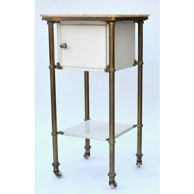 Industrial Antique Medical Cabinet Rolling Cart For Sale - Image 3 of 10