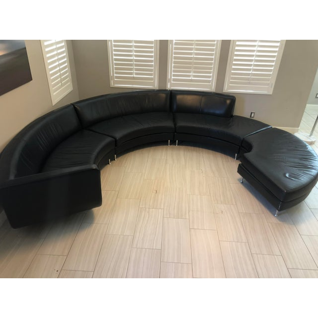 American Leather Contemporary American Leather Menlo Park Sectional For Sale - Image 4 of 13