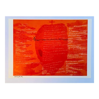 """Vintage Mid 20th C. Abstract Lithograph-Sister Mary Corita Kent-""""Heart of the City"""" For Sale"""