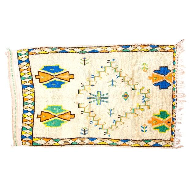 Handloomed Azilal Wool Rug - 4′ × 7′ - Image 1 of 2