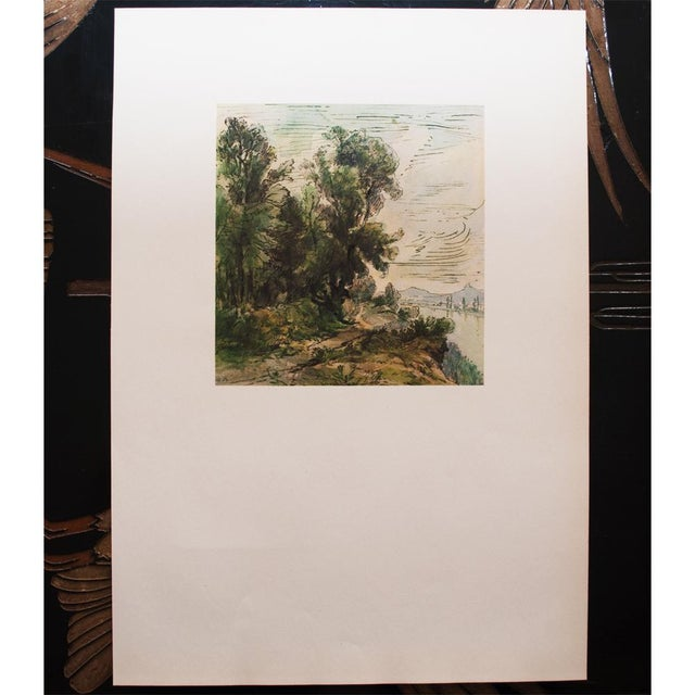 Lithograph Theodore Rousseau, 1959 River Landscape Lithograph For Sale - Image 7 of 10