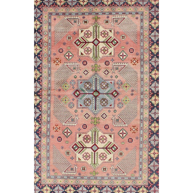 Islamic 1950s Semi Antique Afshar Rug - 4′ × 6′ For Sale - Image 3 of 12
