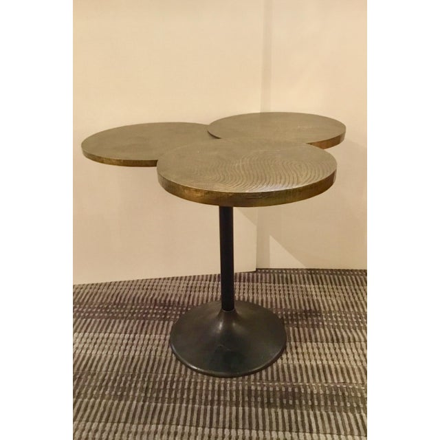 Arteriors Trefle Brass Clad and Iron Side Table For Sale In Atlanta - Image 6 of 6