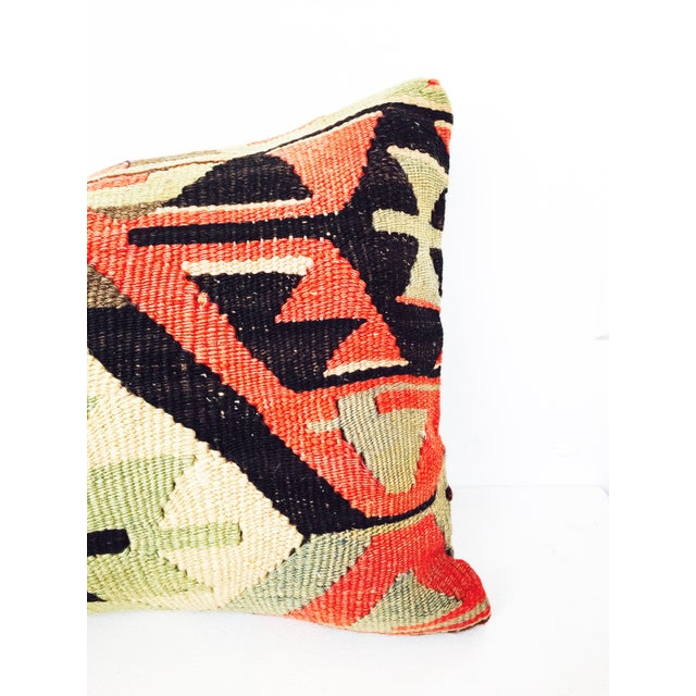 Turkish Kilim Lumbar Pillow - Image 4 of 6