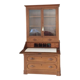 Early American Walnut Secretaire Bookcase