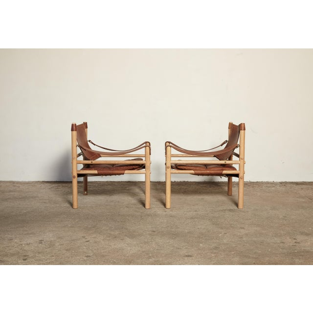 1970s Pair of Arne Norell Sirocco Safari Chairs, Norell Mobel, Sweden, 1970s For Sale - Image 5 of 13