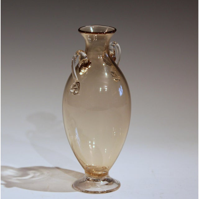 Italian 1920s Vittorio Zecchin for Cappellin & Venini Murano Glass Vase For Sale - Image 3 of 11
