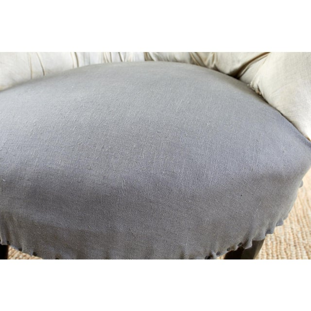 Pair of French Napoleon III Deconstructed Slipper Chairs For Sale - Image 9 of 13