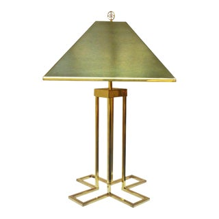 C. Jere Modern Brass Table Lamp, Signed