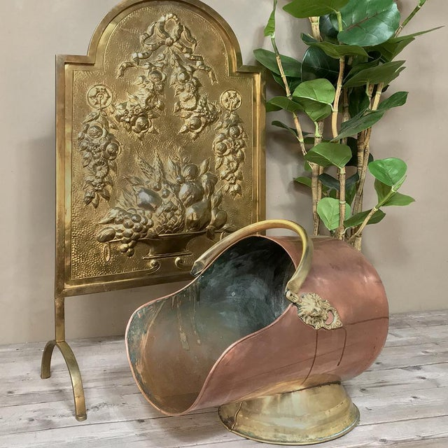 19th Century Copper & Brass Coal Scuttle was designed to keep coal both handy and contained, helping to maintain a tidy...